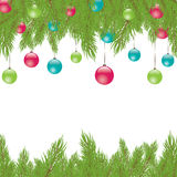 Christmas Fur-tree. Vector illustration Royalty Free Stock Images