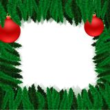 Christmas furtree frame Stock Images