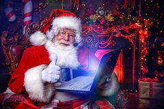 Christmas and gadgets royalty free stock photos