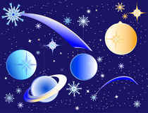 The Christmas galaxy Royalty Free Stock Image