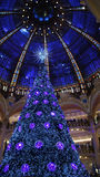 Christmas at Galeries Lafayette Royalty Free Stock Image