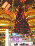 Christmas at Galeries Lafayette Royalty Free Stock Photos