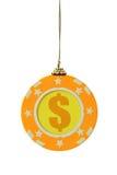 Christmas gambling chip Stock Image