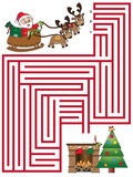 Christmas game. For children: maze Royalty Free Stock Photos