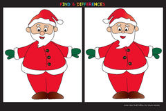 Christmas game. Find six differences Royalty Free Stock Photos