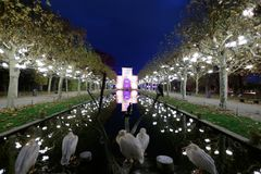 CHRISTMAS GARDEN - Stuttgart, In Wilhelma Royalty Free Stock Photo