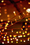 Christmas garland. With glowing background royalty free stock photography