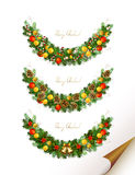 Christmas garland Royalty Free Stock Image