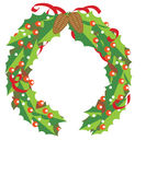 Christmas Garland. A Christmas garland for decoration with black background Stock Images