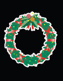 Christmas Garland. A Christmas garland for decoration with black background Royalty Free Stock Photos