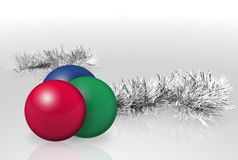Christmas Garland And Balls Royalty Free Stock Photos