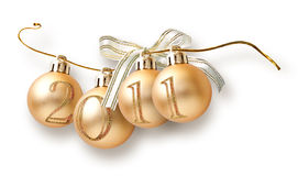 Christmas garland from balls Stock Images