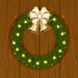 Christmas garland with bells Stock Images
