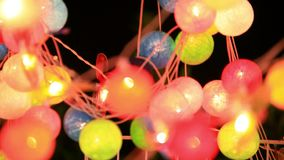 Christmas garland blurred lights background with stock video footage
