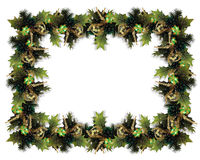 Christmas Garland Border green Royalty Free Stock Photos