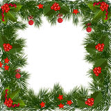 Christmas Garland Border Stock Photos