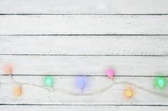 Christmas garland stock image