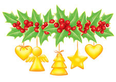 Christmas garland. Contains transparent objects. EPS10 Stock Photo