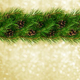 Christmas garland for decoration stock photo