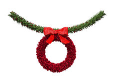 Christmas Garland Decoration Stock Image