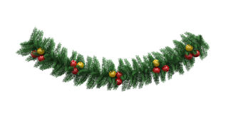 Christmas Garland Decoration Stock Photography