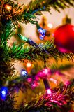 Christmas garland on the decoration of the new year royalty free stock images