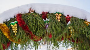 The Christmas garland Stock Images