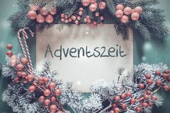 Christmas Garland, Fir Tree Branch, Adventszeit Means Advent Season royalty free stock images