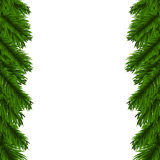 Christmas garland. Christmas fir tree garland isolated on white Royalty Free Stock Images