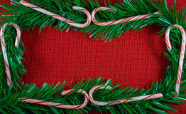 Christmas garland frame. royalty free stock image