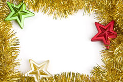 Christmas garland frame Stock Image