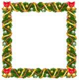 Christmas garland frame Stock Image