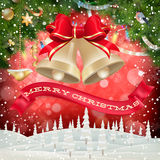 Christmas garland image. EPS 10. Vector file included Stock Image