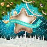 Christmas garland image. EPS 10. Vector file included Royalty Free Stock Photo