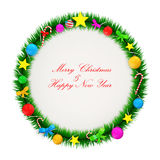 Christmas Garland isolated on white background Stock Images