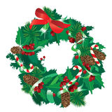 Christmas garland isolated on white background. A Christmas garland isolated on white background Royalty Free Stock Photography