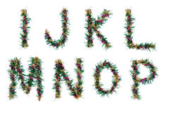 Christmas garland letters Royalty Free Stock Photos