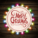 Christmas garland of light Royalty Free Stock Image