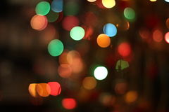 Christmas garland lights background. Christmas garland blurred lights of various colors stock photography