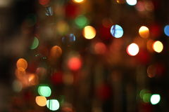 Christmas garland lights background. Christmas garland blurred lights of various colors Royalty Free Stock Images