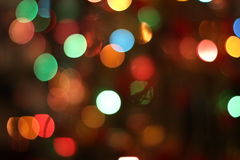 Christmas garland lights background. Christmas garland blurred lights of various colors Royalty Free Stock Photo