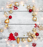 Christmas garland lights Royalty Free Stock Photos