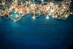Christmas garland lights Stock Photography