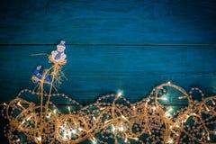 Christmas garland lights Royalty Free Stock Photo