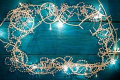 Christmas garland lights Royalty Free Stock Image