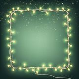 Christmas Garland lights, holiday background. EPS 10 vector. Christmas Garland lights, holiday background. And also includes EPS 10 vector Stock Photography