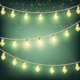 Christmas Garland lights, holiday background. EPS 10 vector. Christmas Garland lights, holiday background. And also includes EPS 10 vector Stock Photos