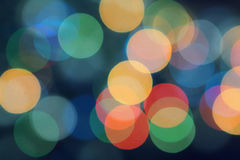 Christmas garland - multi-colored bokeh Stock Images