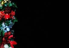Christmas garland page edge. Royalty Free Stock Photo