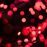 Christmas garland with red bulbs Royalty Free Stock Photo